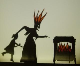 Frau Trude shadow puppet