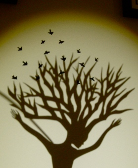 The Birdkeeper wall shadow close up