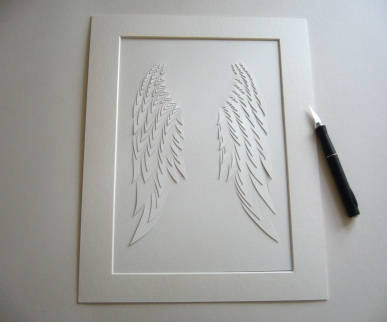 Angel Wings A4 papercut