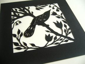 Bird in Spring (black)