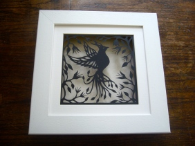Bird of Paradise (black) in box frame.