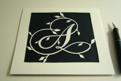 Letter A 8inx8in papercut