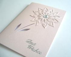 Pink card pink flower