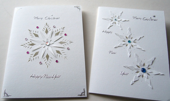 Snowflake papercut cards