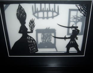 Frau Trude framed papercut - final
