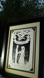 Framed wedding papercut 2