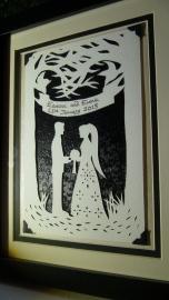 Framed wedding papercut3