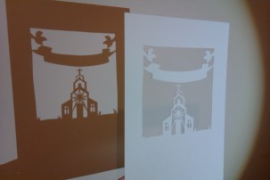 Christening papercut