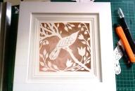 Bird in Spring in box frame