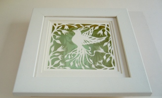 Bird of Paradise papercut framed2
