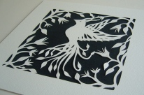 Bird of Paradise papercut unframed4