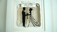 Wedding papercut framed 2