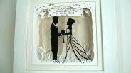 Wedding papercut framed 2