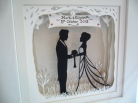 Wedding papercut framed 3