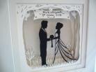 Wedding papercut framed 3