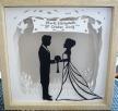Wedding papercut part framed