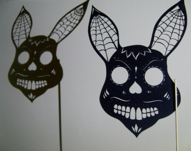 Rabbit sugar skull mask