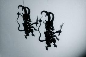 Krampus shadow puppet